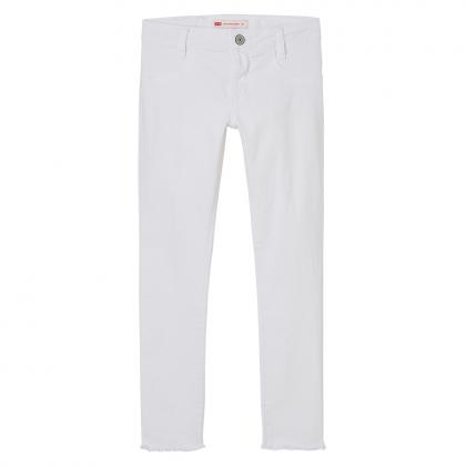 Levi's 710 Super Skinny jeans with fringe - white