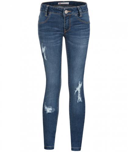 Levis 710 Super Skinny Jeans im Destroyed Look in blau