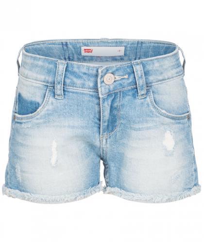 Levis Jeans-Short im Destroyed Look in hellblau