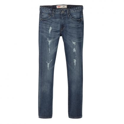 Levi's destroyed skinny jeans 520 in blue with low crotch