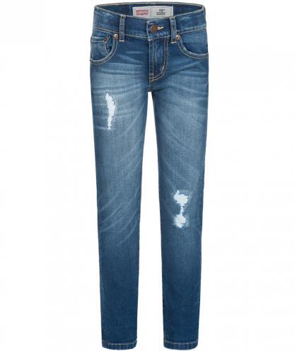 Levi´s Skinny Jeans 510 im Destroyed Look in blau