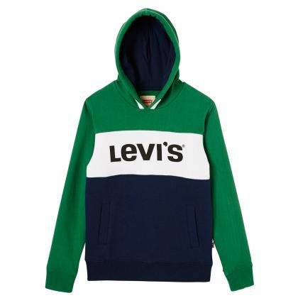Levi's Retro Kapuzenpullover Blocky mit Logo in grün