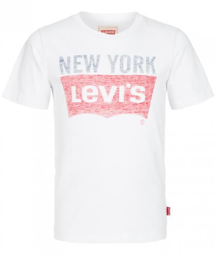 Levis Shirt mit verwaschenem Logo Print in weiss