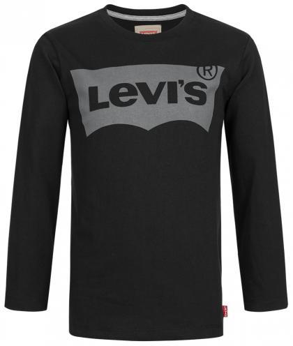 Levis Langarmshirt mit Aufdruck in schwarz