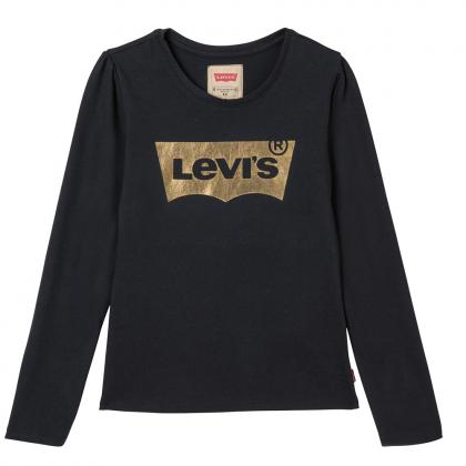Levi's Langarmshirt Brilliant in schwarz mit goldenem Classic Logo