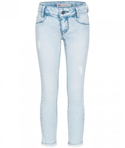 Levis Super Skinny Jegging 710 im Destroyed Look in hellblau