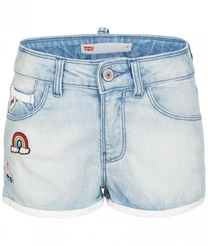 Levis Jeans-Short mit Patches in hellblau