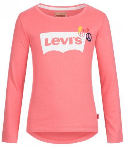 Levis Langarmshirt mit Applikationen in lachsrosa