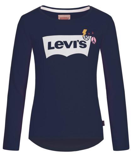 Levis Langarmshirt mit Applikationen in dunkelblau