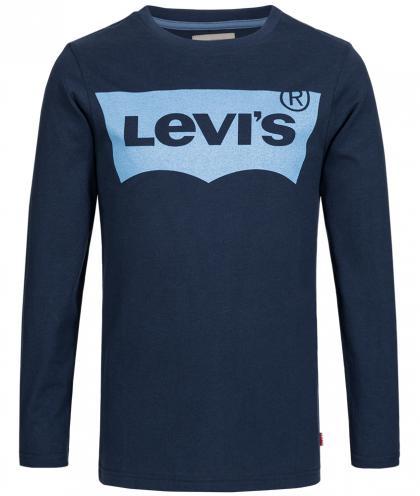 Langarmshirt  in marine-blau