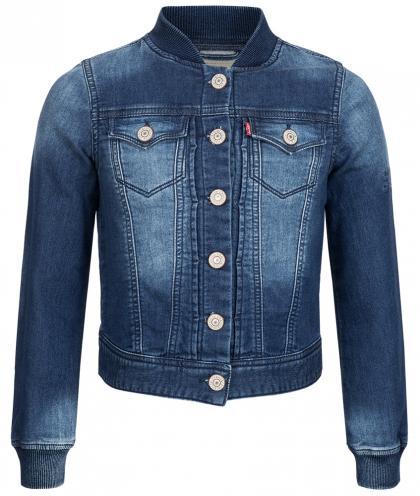 Jeansjacke in dunkelblau