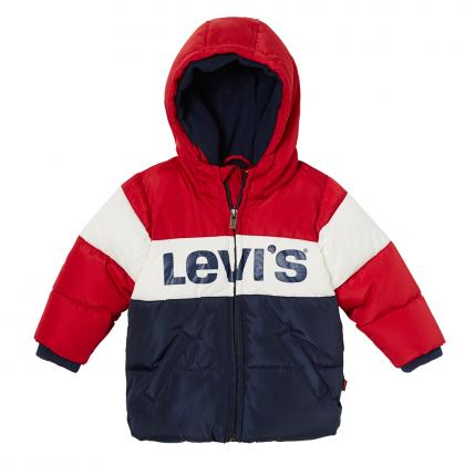 Levi's Baby anorak Ray with block pattern in navy