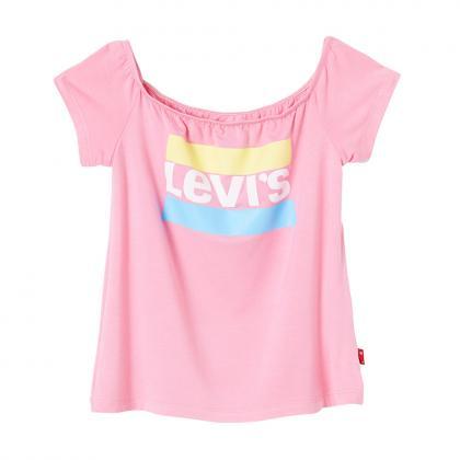 Levi's cropped T-Shirt Makeba mit Carmenausschnitt - pink