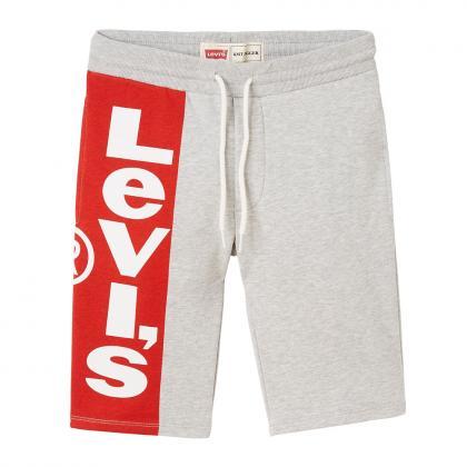 Levi's Sweatshorts Bermuda mit Logo - grau