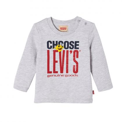 Levi's Baby Retro Langarmshirt Smil in grau