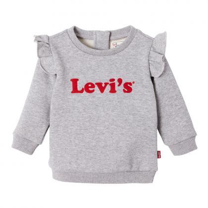Levi's Baby Sweashirt Sweaty mit Volants in grau