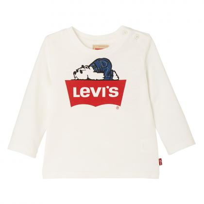 Levi's Baby longsleeve Ted with logo in off-white