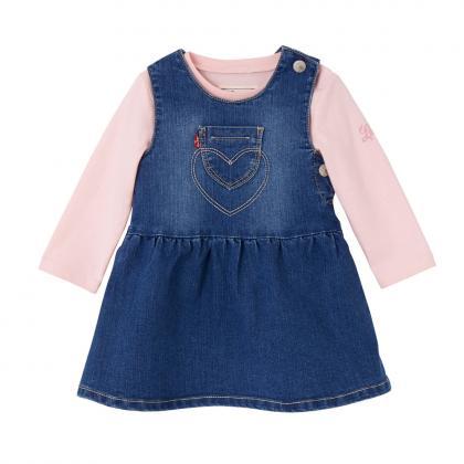 Levi's Baby Set Teedress mit Kleid und Shirt in rosa
