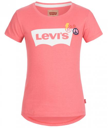 Levis T-Shirt mit Applikationen in lachsrosa