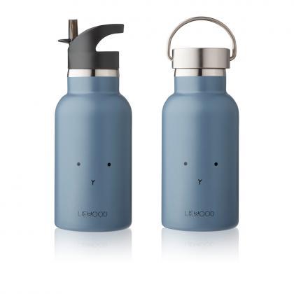 Liewood Anker steel water bottle Rabbit - blue