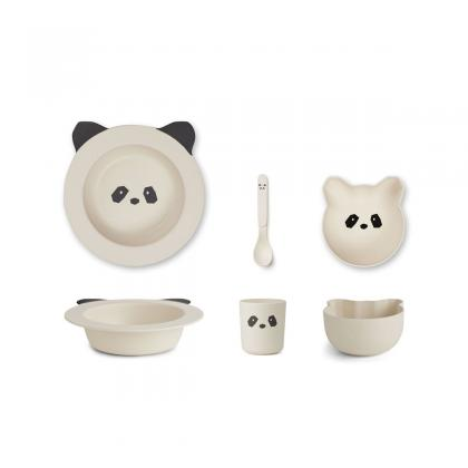 Liewood Barbara bamboo box set Panda - cream