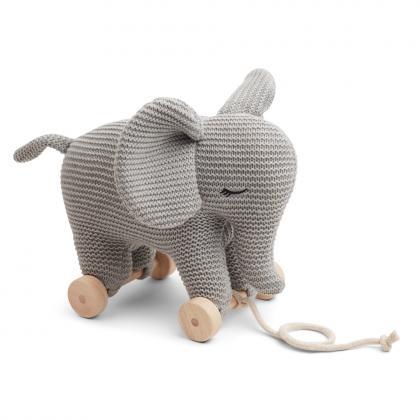 Liewood Dahlia teddy on wheels of 100% organic cotton - grey
