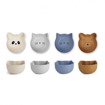 Liewood bamboo bowls set Rex - blue mix