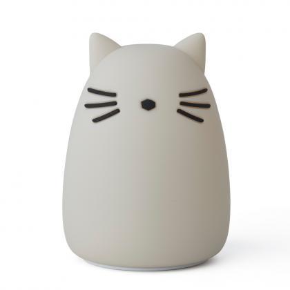 Liewood aufladbares Silikon Nachtlicht Winston Cat - Dumbo Grey