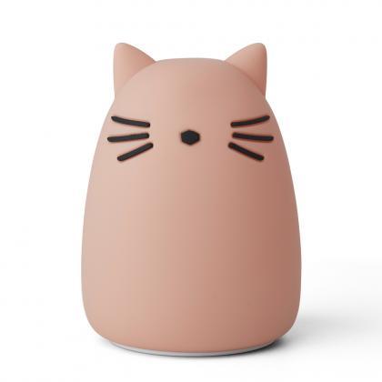 Liewood aufladbares Nachtlicht Winston Cat - rosa