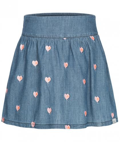 Little Marc Jacobs Rock mit Herzchen in denimblau