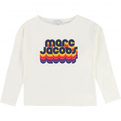 Little Marc Jacobs Langarmshirt in naturweiss