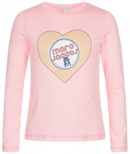 Little Marc Jacobs Glitzer Herz Shirt in rosa