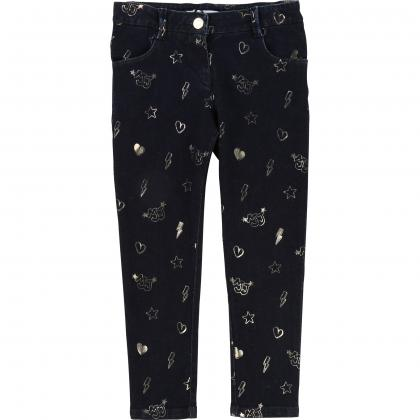 Little Marc Jacobs Jeans mit Allover Print in dunkelblau