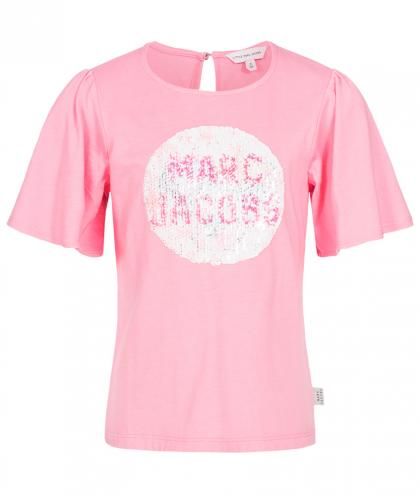 Little Marc Jacobs Shirt mit Wende-Pailletten in pink