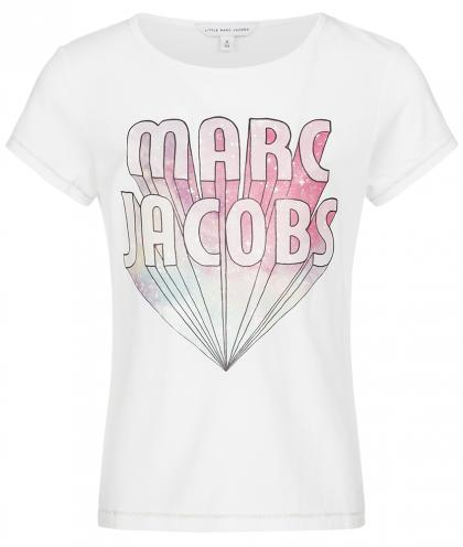 Little Marc Jacobs Shirt mit Logo Print in weiss