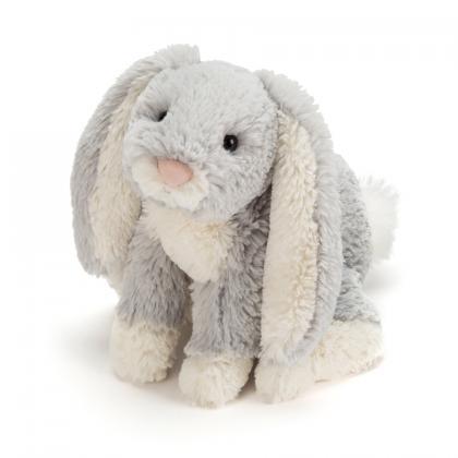 Jellycat Loppy Silver Bunny