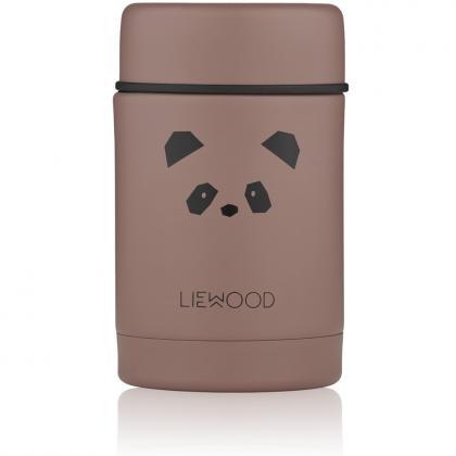 Liewood Nadja Stahl Isolierbehälter Panda Dark Rose, 250 ml - rosa