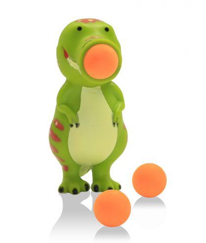 Leif Plopper Dino mit 6 Schaumstoffbälllen - grün