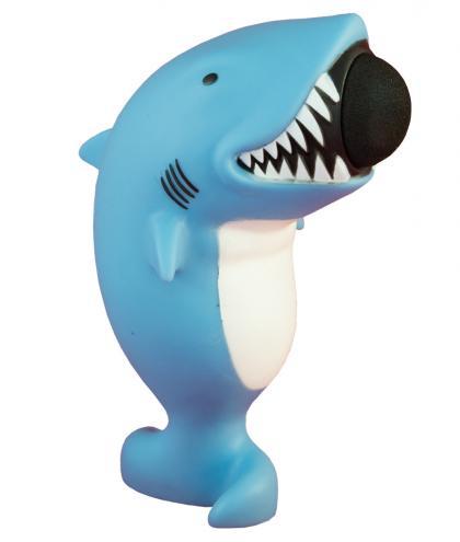 Leif Plopper Hai mit 6 Schaumstoffbälllen - blau
