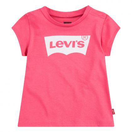 Levis Basic Shirt mit Glitzer Logo - pink