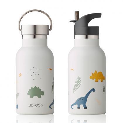 Liewood Anker Stahl Trinkflasche Dino - weiß