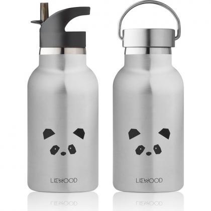 Liewood Anker steel water bottle Panda - silver