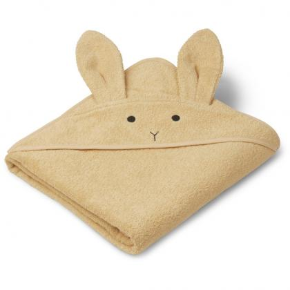 Liewood bath towel Augusta of 100% organic cotton - Rabbit Smoothie yellow