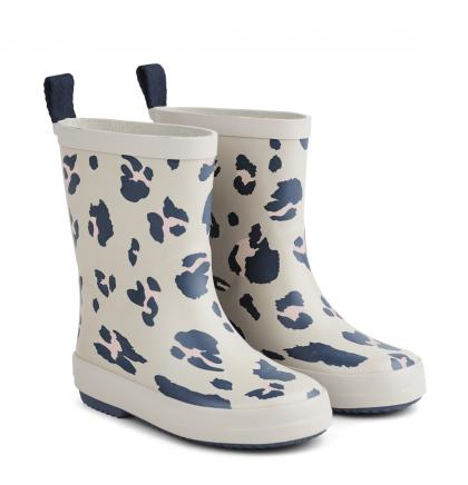 Liewood rain boots Rio made of natural rubber - Leo ecru