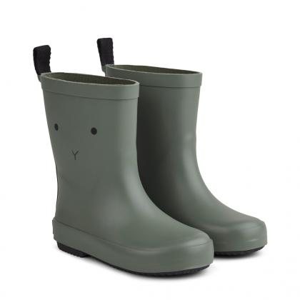 Liewood rain boots Rio made of natural rubber - Rabbit faune green
