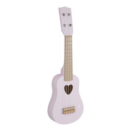 Little Dutch Holz Gitarre Adventure -  rosa