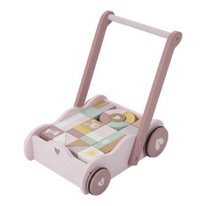 Little Dutch Holz Lauflernwagen Adventure -  rosa