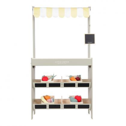 Little Dutch Holz Marktstand/Kaufladen, 27 x 60 x 112 cm -  weiß