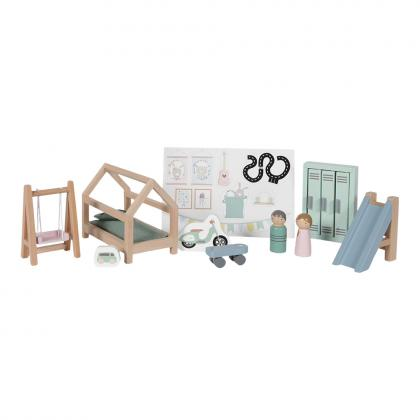 Little Dutch Holz Puppenhaus Spielset Kinderzimmer - multi