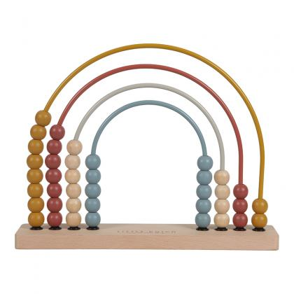 Little Dutch Pure&Nature wooden abacus rainbow FSC  - multi